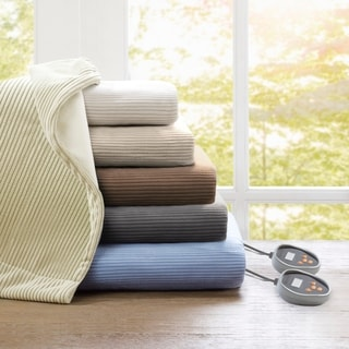 Beautyrest Ribbed Microfleece King Size Heated Blanket