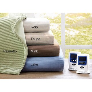Beautyrest Ribbed Microfleece King Size Heated Blanket