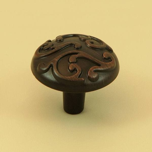 Overstock Kitchen Cabinet Pulls: Stone Mill Hardware 'Ivy' Oil Rubbed Bronze Cabinet Knobs