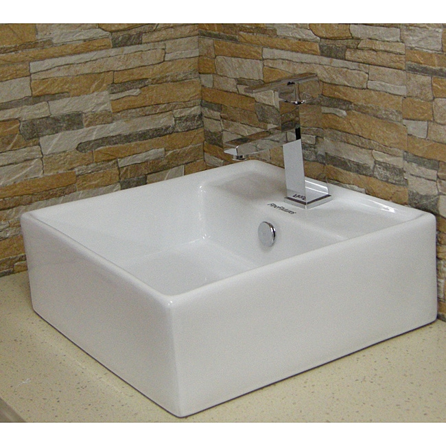 Fine Fixtures Vitreous China White Vessel Sink With Deep