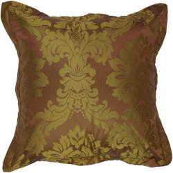 Harper Chocolate Floral 18 Inch Decorative Down Pillow