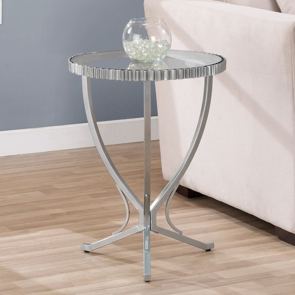 Overstock End Tables: Scalloped Metal End Table