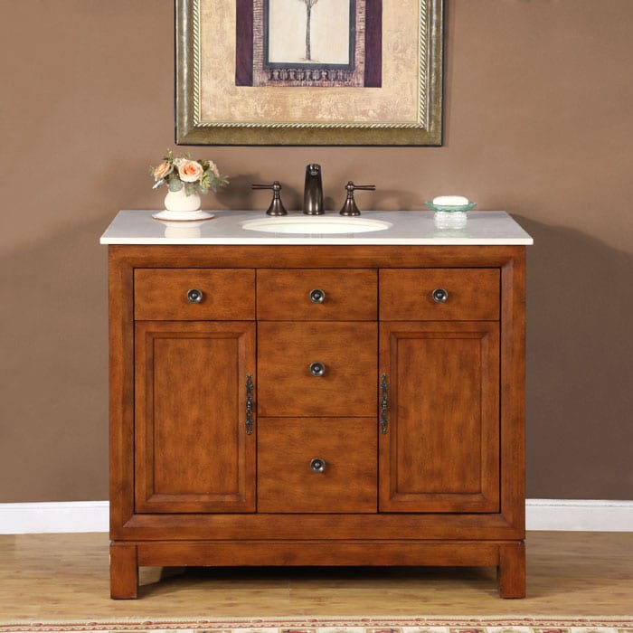 Silkroad Exclusive Natural Stone Countertop Lavatory ...