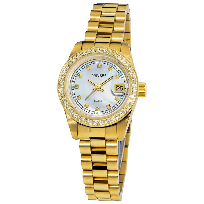 Akribos Xxiv Women S Diamond Watch