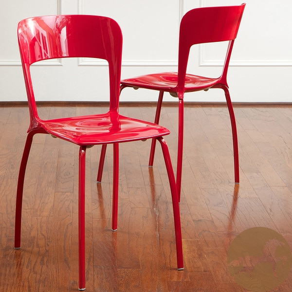 Christopher Knight Home Red Modern Chairs Set Of 2