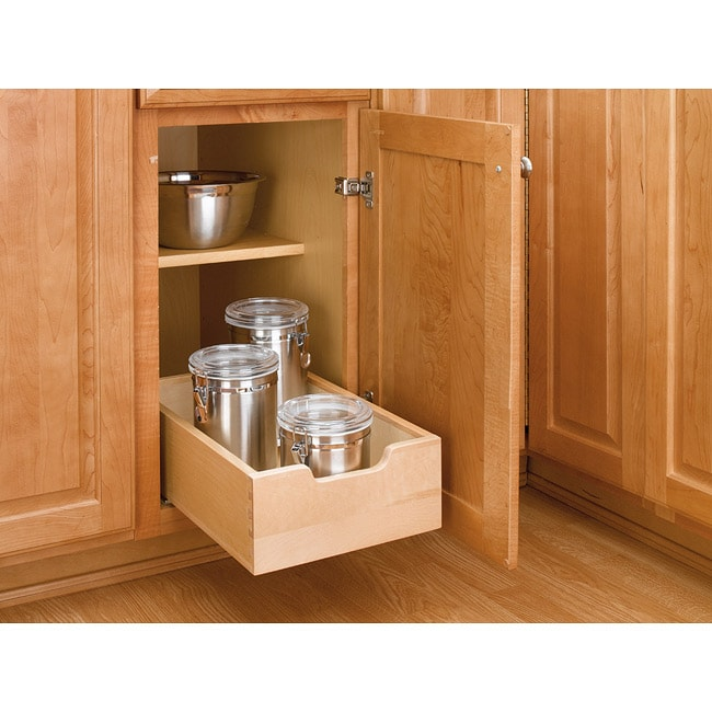 Kitchen Cabinet Slides: Rev-A-Shelf 4WDB-12 Small Pull-out Wood Cabinet Drawer
