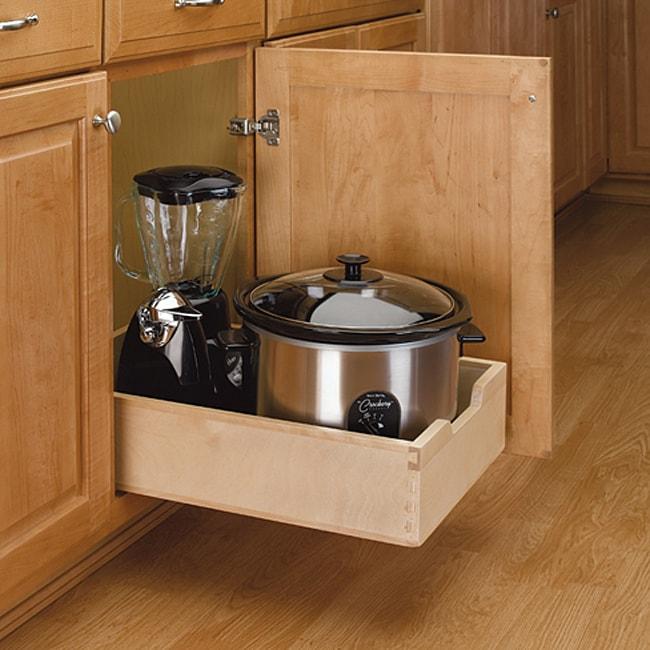 Rev A Shelf 4wdb 15 Medium Wood Pull Out Cabinet Drawer