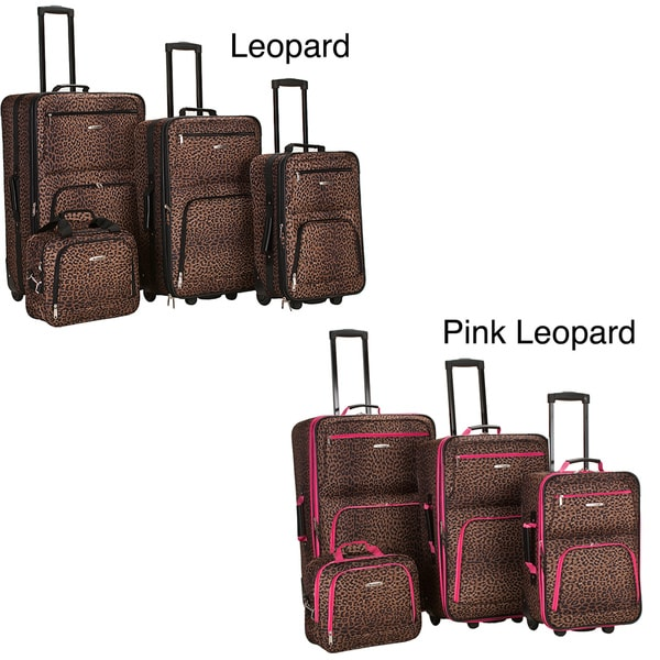 Rockland deluxe leopard four piece expandable luggage set 2bcb35db 77d3 4667 adb6 3af34cef9d07 600