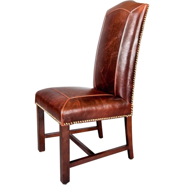 Monroe Leather Dining Chairs Set Of 2 Room Modern