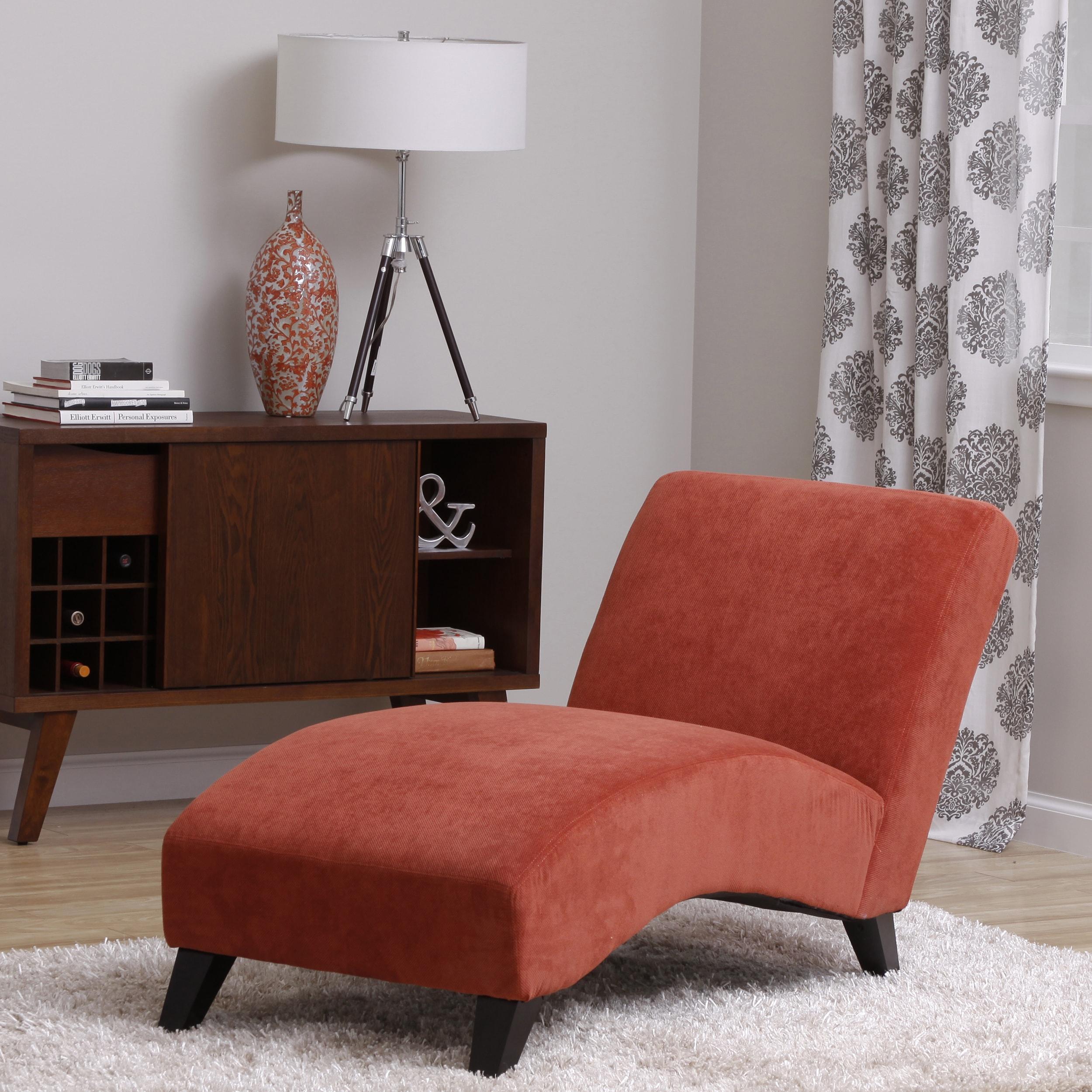 Bella Orange-Paprika Chaise