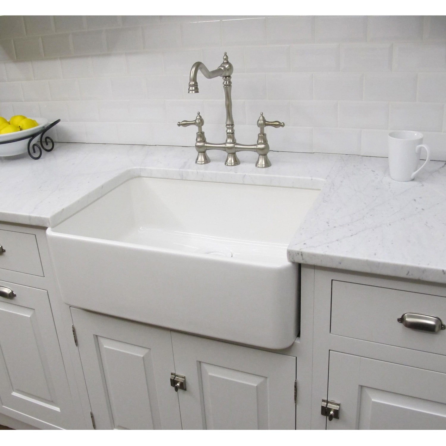 somette fireclay sutton white farmhouse kitchen sink overstock shopping great. Black Bedroom Furniture Sets. Home Design Ideas