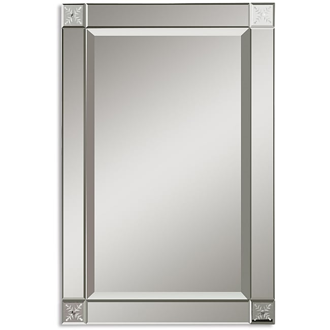 Overstock Mirrors: Uttermost Emberlynn Etched Bevel Framed Mirror