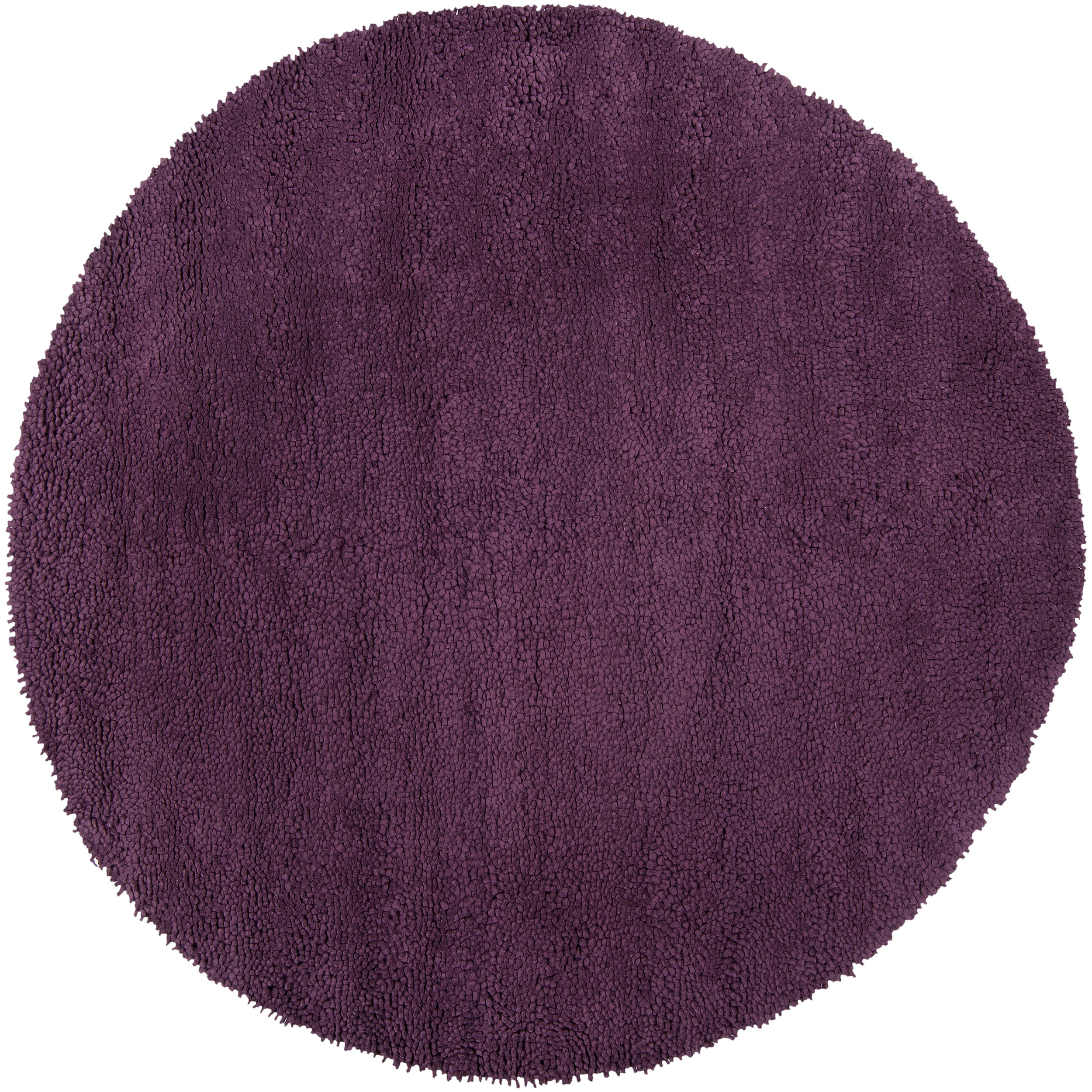 Purple Rug: Hand Tufted Purple Wool 'Stalacpipe' Rug (8' Round