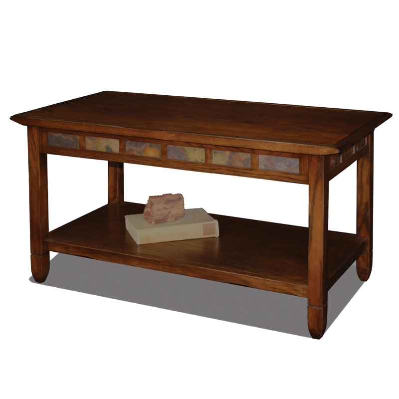 Favorite Finds Rustic Oak And Slate Tile Coffee Table