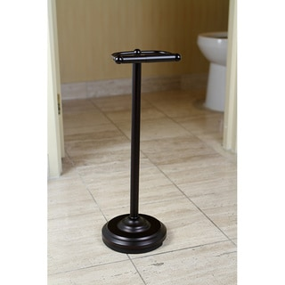 Pedestal Oil Rubbed Bronze Standing Toilet Paper Holder