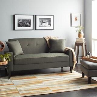 Franklin Leather Grand Sofa 80005152 Overstock Com