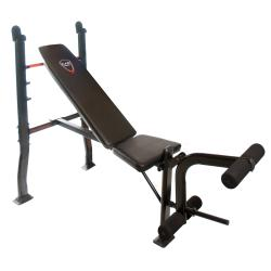 Multipurpose Padded Steel Adjustable Weight Bench With Leg