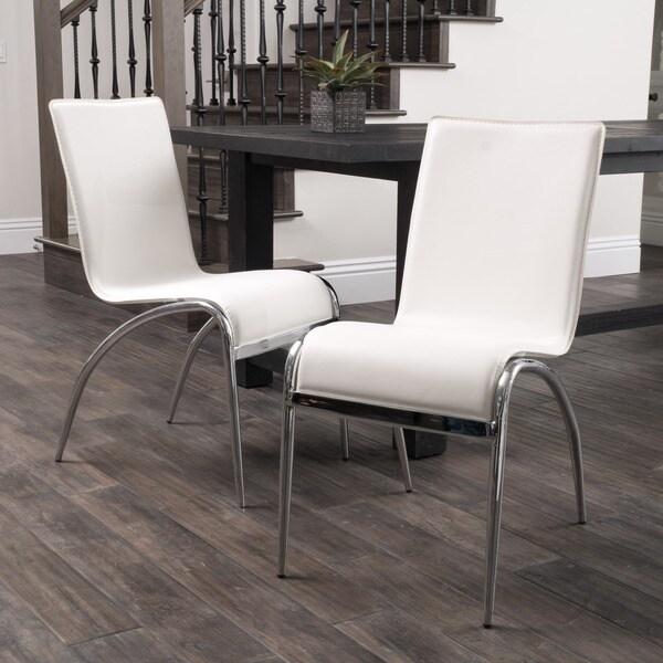 Christopher Knight Home Kensington White Modern Chair Set