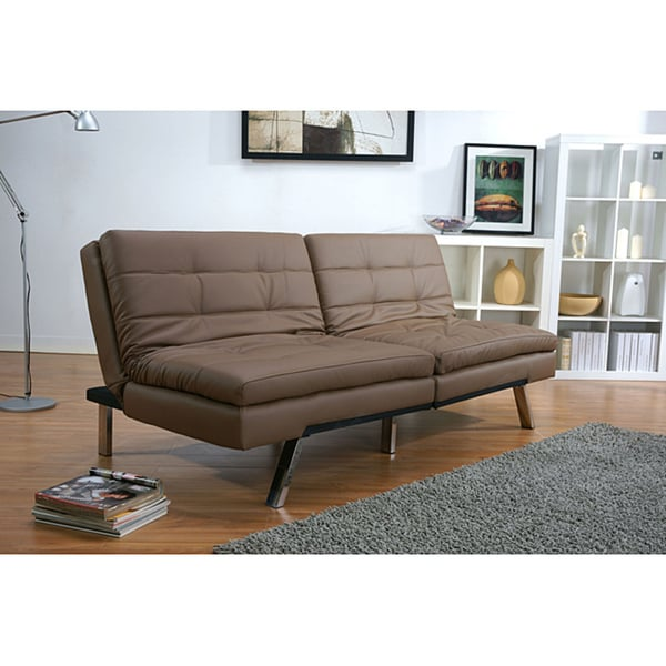 Sofa Bed Deals: Memphis Taupe Double Cushion Futon Sofa Bed
