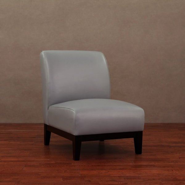 Cole Charcoal Grey Leather Chair 14097463 Overstock