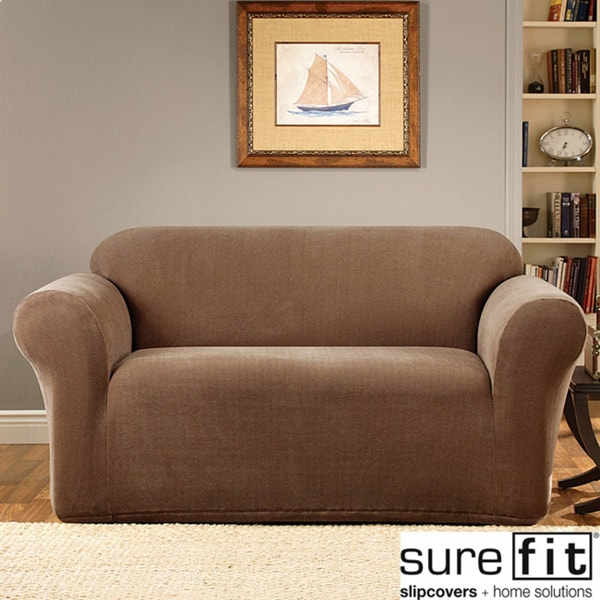 Sure Fit Stretch Micro 1 Piece Loveseat Slipcover