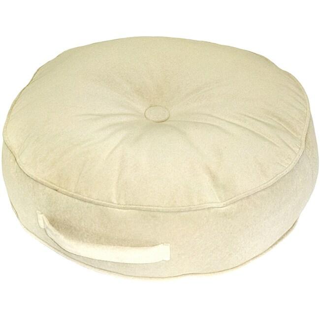 Cream Microfiber 20 Inch Round Floor Pillow Overstock