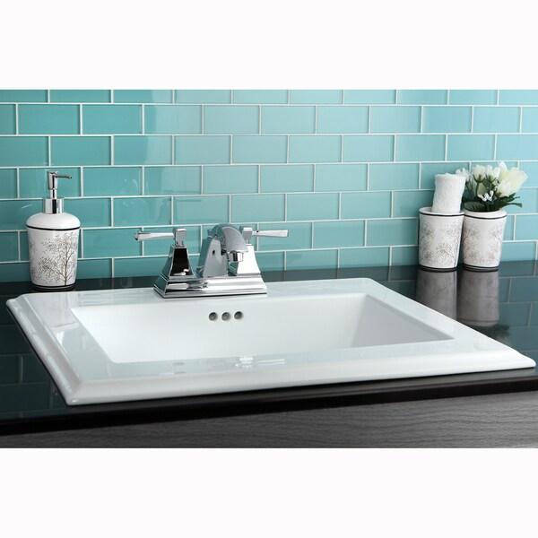 Surface Mount 4 Inch Center Bathroom Sink 14107067