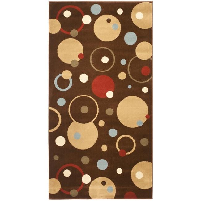 Safavieh Porcello Modern Cosmos Brown/ Multi Rug - 2'7 x 5'