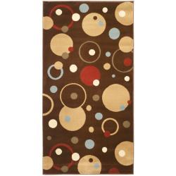 Safavieh Porcello Modern Cosmos Brown/ Multi Rug - 2'7 x 5' - Thumbnail 0