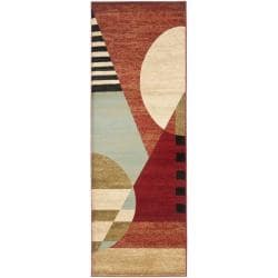 Safavieh Porcello Modern Abstract Multicolored Rug - 2'4 x 6'7 - Thumbnail 0