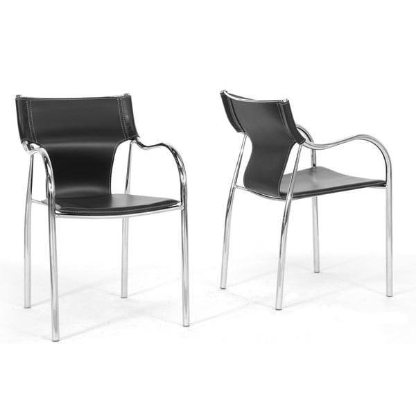 Dining Chairs Deals: Harris 2-piece Black Modern Dining Chair Set