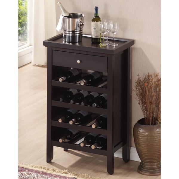 Discount Kitchen Cabinets Atlanta: Atlanta Dark Brown Wood Modern Wine