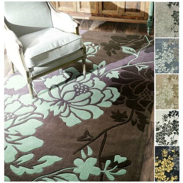 NuLOOM Handmade Pino Yarrow Floral Rug (8'3 X 11
