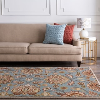 Hand Tufted Paisley Floral Wool Area Rug 10 X 14