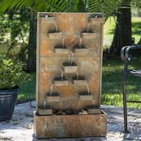 Thaumas Indoor/Outdoor Floor Fountain - Slate