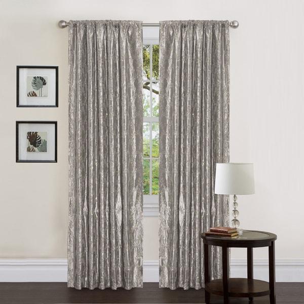 Lush Decor Gold Sequin Silver 84 Inch Angelica Curtain