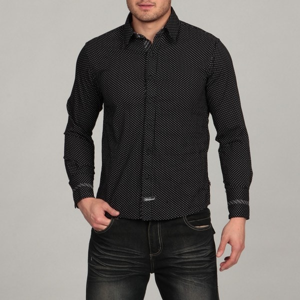 English Laundry By Scott Weiland Men S Black Woven Shirt