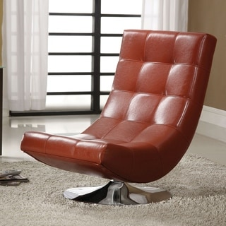 Leather Swivel Chair With Adjustable Headrest 14213572