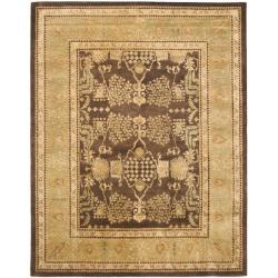 Safavieh Handmade Tree Brown/ Light Green Hand-spun Wool Rug - 8' x 10' - Thumbnail 0