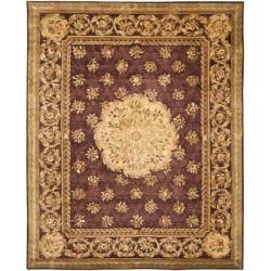 Safavieh Handmade Aubusson Roinville Red Wool Rug - 10' x 14' - Thumbnail 0