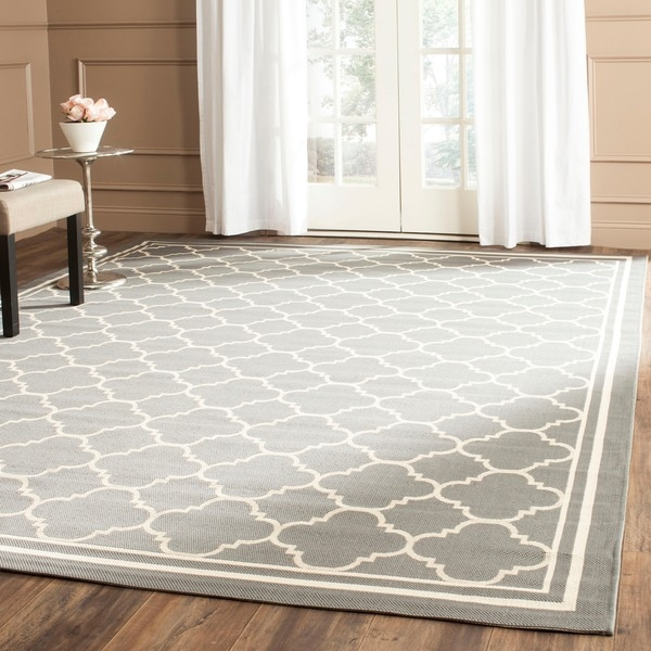Safavieh Poolside Anthracite Beige Indoor Outdoor Rug 6