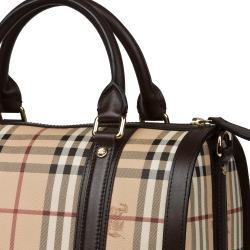 a617f06f3a88 Burberry Medium Haymarket Check Bowler Bag Burberry Designer Handbags