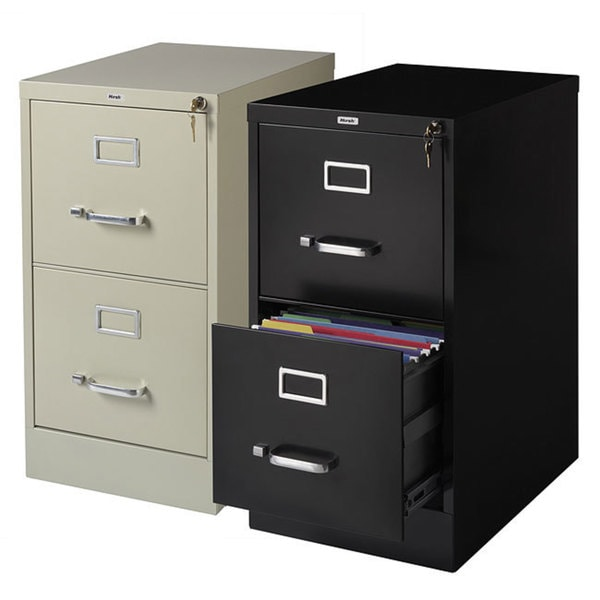 Hirsh 22 Inch Deep 2 Drawer Letter Size Commercial