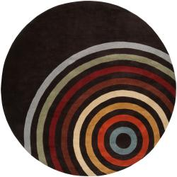 Hand Tufted Contemporary Multi Colored Circles Lev Wool