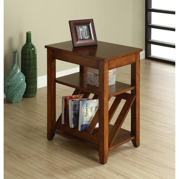 Furniture Of America Antique Oak 1 Drawer Magazine Rack