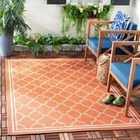 Safavieh Poolside Terracotta/ Bone Indoor/ Outdoor Area Rug - 6'7 x 9'6