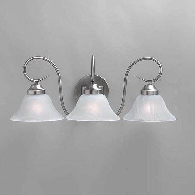 transitional brushed nickel 3 light bath light fixture 14155684 shopping top. Black Bedroom Furniture Sets. Home Design Ideas
