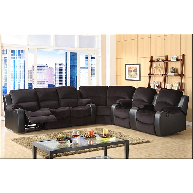 Tyson Microfiber Reclining 3 Piece Sectional Set