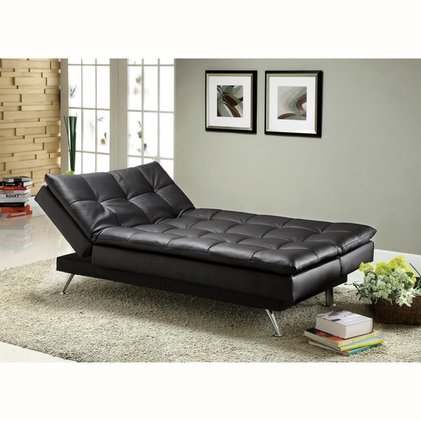 Sofa Bed Deals: Furniture Of America Stabler Comfortable Black Futon Sofa