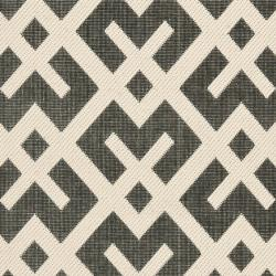 Safavieh Poolside Black Bone Indoor Outdoor Rug 2 4 X 6